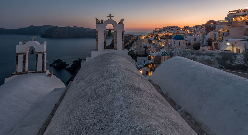 Oia Sunset Architecture City Day Greece Greek Invasion Long Exposure Longexposure Oia Santorini Outdoors People Place Of Worship Santorini Sunny Sunrise Sunset Travel Travel Destinations