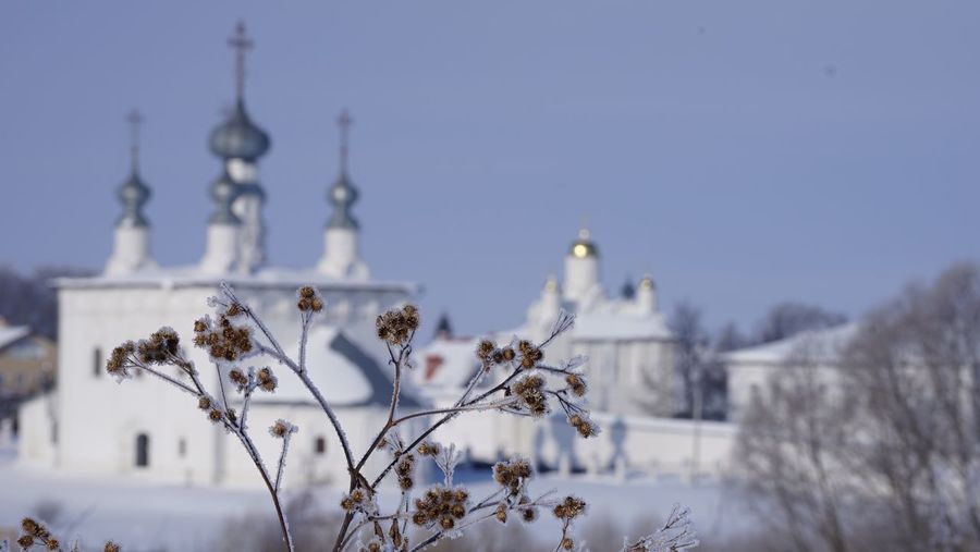 Sunny day in Suzdal Monastery Golden Ring EyeEm Selects Architecture Cold Temperature Snow Winter Built Structure Building Exterior