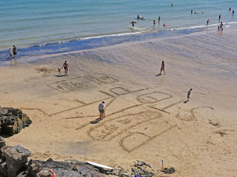 Bathers Bathers Beach Beach Cornwall Cornwall Beach Cornwall Life Cornwall Uk Cornwall Walks Pokemon Go Pokémon Saint Yves Sand Sea Seascape Seaside Stop Stop Sign Summer Sunny Day Tourism Tourist Tranquility Vacations Written Written On The Sand Of A Beach