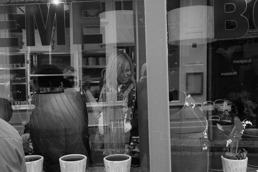 My girlfriend doing what she does best (Shopping) on a recent trip to Honfleur which is near Lahavre, France France Honfleur Blackandwhite Blackandwhite Photography Streetphotography Streetphoto_bw