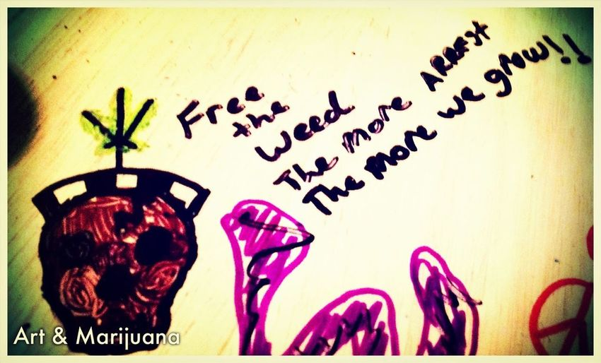 Peace And Love Nice View Gettin High Art & Marijuana
