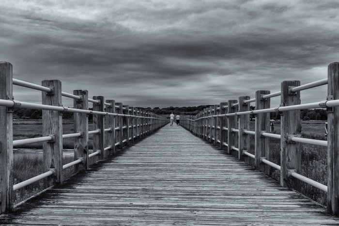 Architecture Bridge Bridge - Man Made Structure Built Structure Cloud - Sky Connection Day Diminishing Perspective Direction Empty Footbridge Footpath Long Nature No People Outdoors Pier Railing Sky The Way Forward vanishing point Wood Wood - Material Wood Paneling