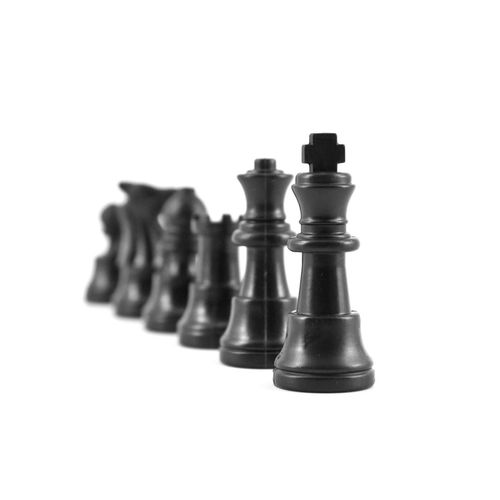 Chess White Background Studio Shot Strategy No People King - Chess Piece Challenge Chess Piece Pawn - Chess Piece Competition Knight - Chess Piece Leisure Games Queen - Chess Piece Chess Board Close-up Chess