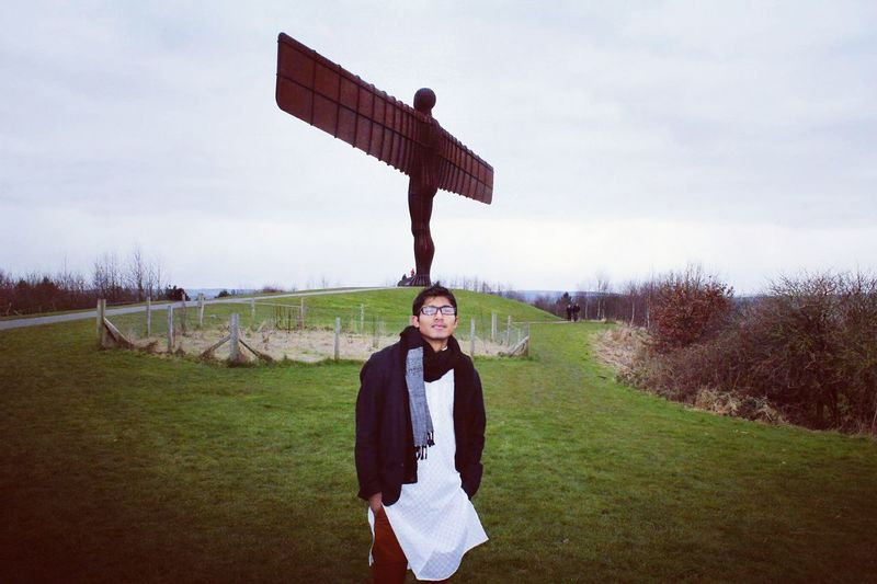 Outdoors Landscape One Young Man Only Sky And Clouds Angels Angelic Gateshead Travellar