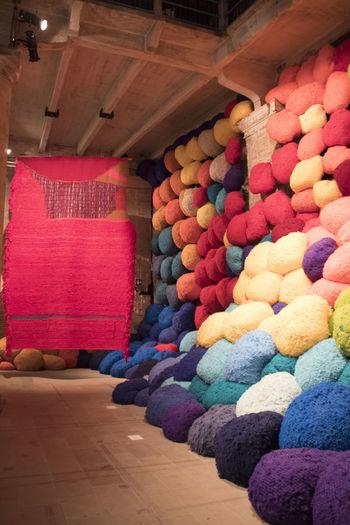 Exhibit la Biennale di Venezia Canon1300d Exhibit La Biennale Di Venezia EyeEm Best Shots EyeEm Nature Lover Colorful Indoors  Large Group Of Objects Multi Colored No People Textile Variation Wool
