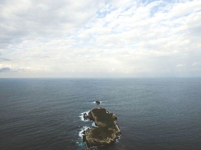 Aerial view of island in sea