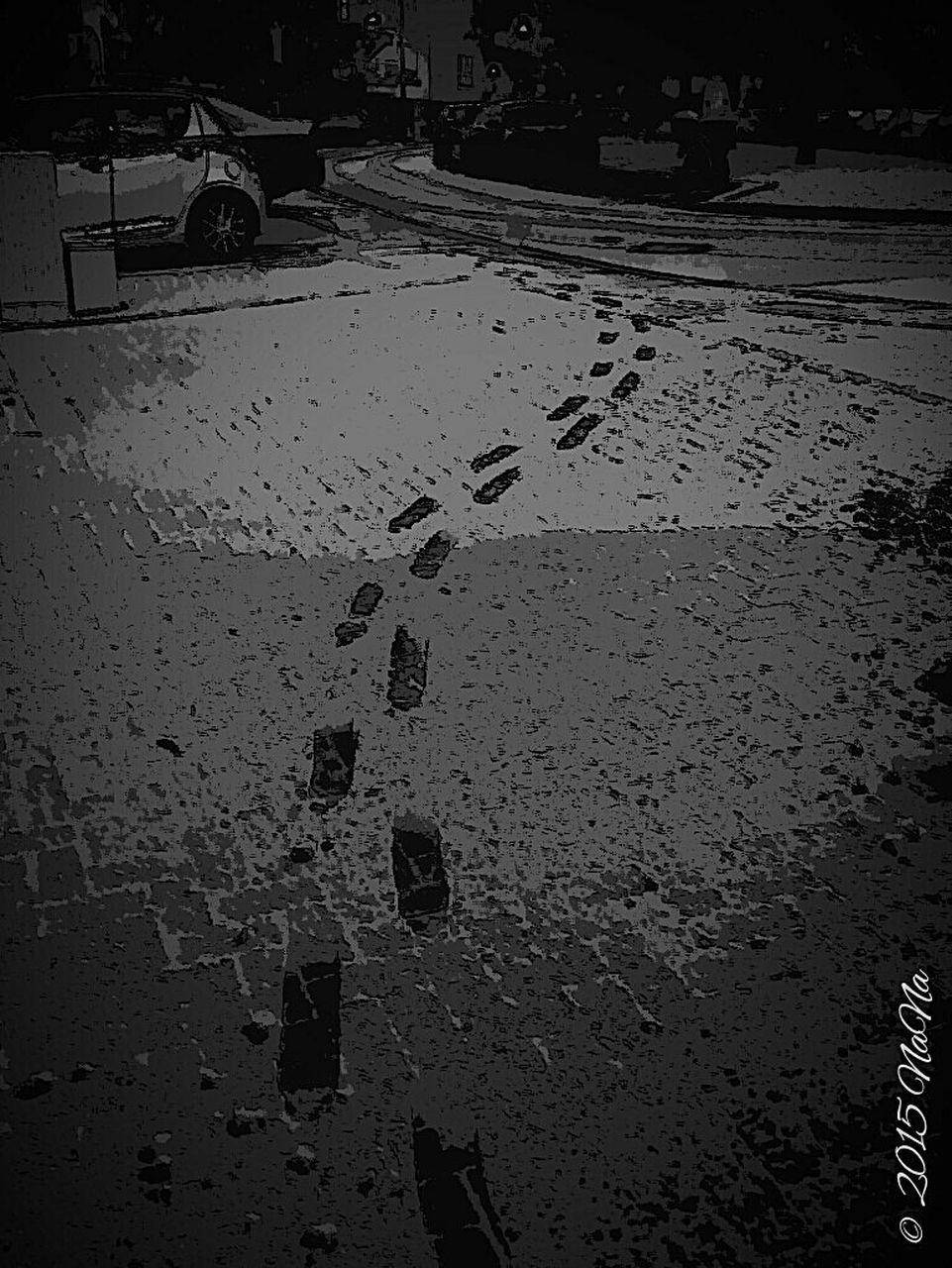sand, footprint, beach, outdoors, no people, night, nature, sky