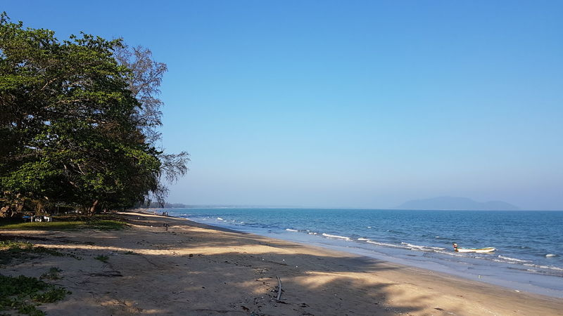 Thailand Thaibeach Beach Sea Sand Water Blue Nature Sunny Summer Clear Sky Tree Vacations Beauty In Nature Sky Day