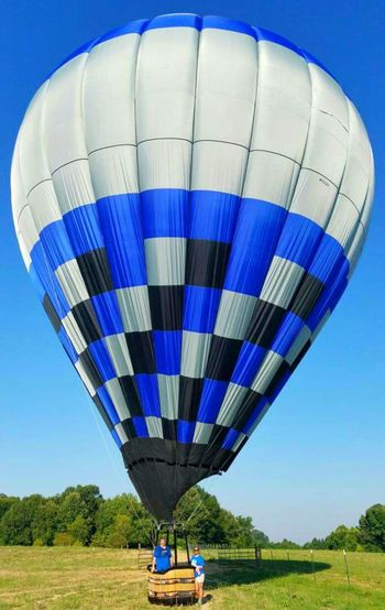 Hot Air Balloon Hot Air Balloons Hot Air Ballooning Blue Balloon Checkered Pattern Check This Out Colors and patterns Designs And Lines Blue And White Transportation Time To Fly Learn To Fly Adventure Club Showcase July Colour Of Life Color Palette People And Places Miles Away