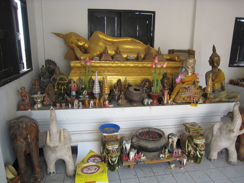 Animal Representation Architecture Art Art And Craft Building Exterior Built Structure Creativity For Sale Human Representation Indoors  Potted Plant Retail  Sculpture Shelf Sitting Spotted In Thailand Statue Store Variation
