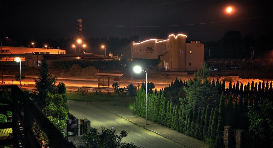 Night Street Light City Poland