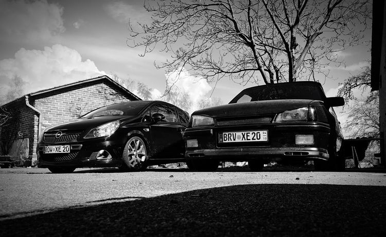 Meine beiden 😍❤ Outdoors Day Sky Transportation Cloud - Sky Shadow Road Tree No People Opel Kadett 16v Corsa D OPC