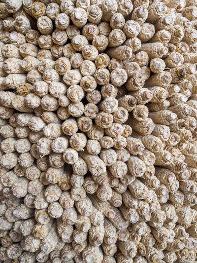 Full Frame Shot Of Stacked Dry Corns