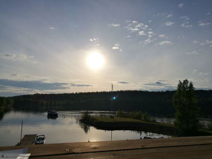 Having good time with there with work buddies week ago 😊 Reflection Water Lake blue sky Tranquility Nature Cloud - Sky Tree Beauty In Nature No People Outdoors Scenics Sunset Day Summer Finland Jyväskylä Summer Finland Lake