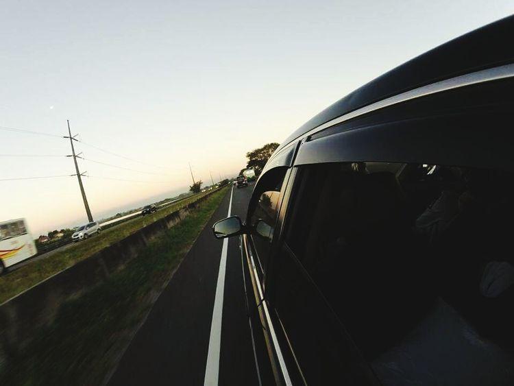 Hello World Car Ride  High Angle View Highway Fisheye Speedy