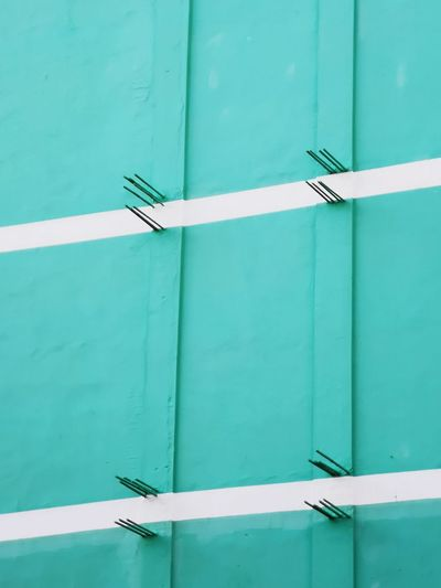 blue & white EyeEm Selects Wall Green Blue White Reinforcements Steel Architecture Paint Cover Colors Close-up Building