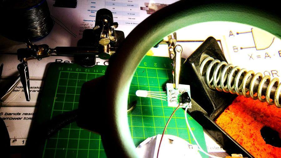 Indoors  Close-up No People Electric Light Electronic LEDLights Home Workshop Remote control LED