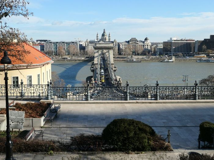 Views of Pest from Buda EyeEm Selects Danube Budapest Architecture Built Structure Building Exterior Water City Sky Nature Bridge Connection Bridge - Man Made Structure Travel Outdoors Transportation Travel Destinations River Day Building Cloud - Sky No People Chain Bridge