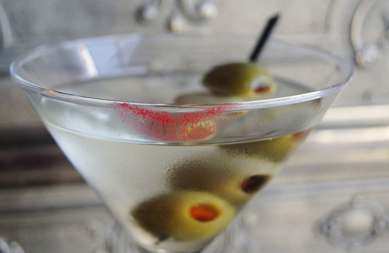 Close-up of cocktail in glass