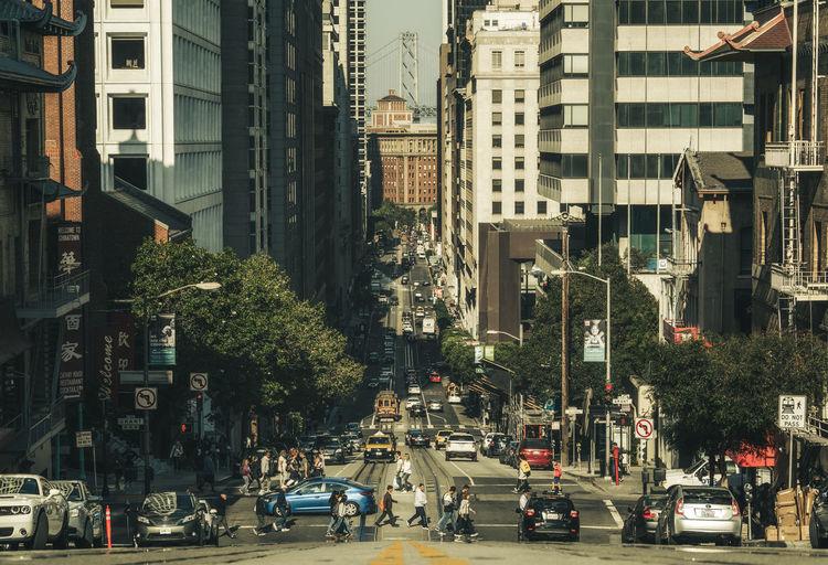 Traffic on city street
