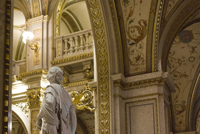 Vienna Opera House interiors Classic Historical Building Interiors Opéra Theater Vienna Architecture Art And Craft Classical Architecture Historic Human Representation Indoors  No People Opera House Operahouse Royal Sculpture Staatsoper Statue Theatre Wien Wiener