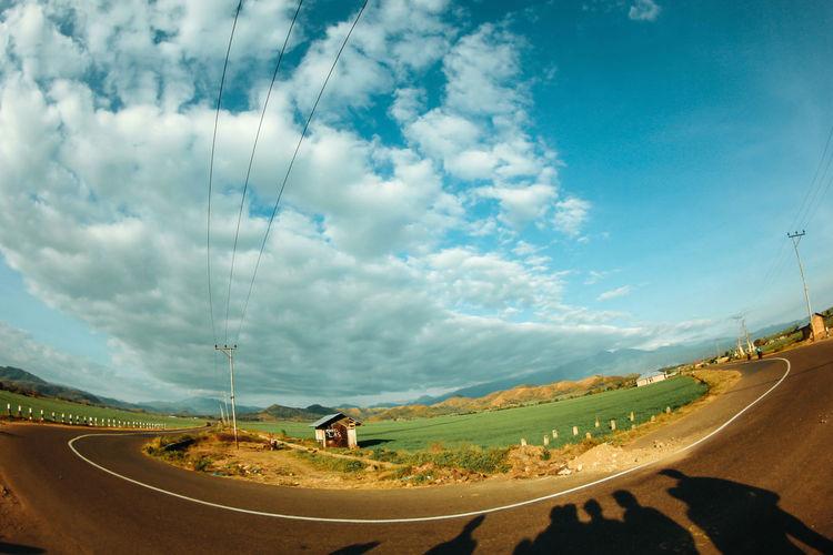 Panoramic view of road against sky