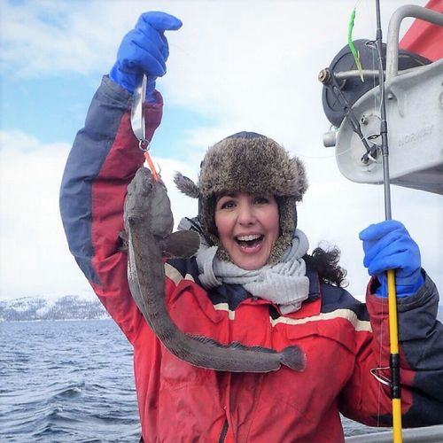 My catch! Happiness Wolffish Uglyfish Fun Outdoors Adventure Day Seascape Northnorway Travel Destinations Fishing Boat Sea Winter Snow Sea_collection Fishing Life Cheerful