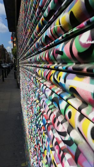 Shutters Hard To Paint Colourful Bright No Filters  Welcome Street Art Brightens My Day Love London Artists