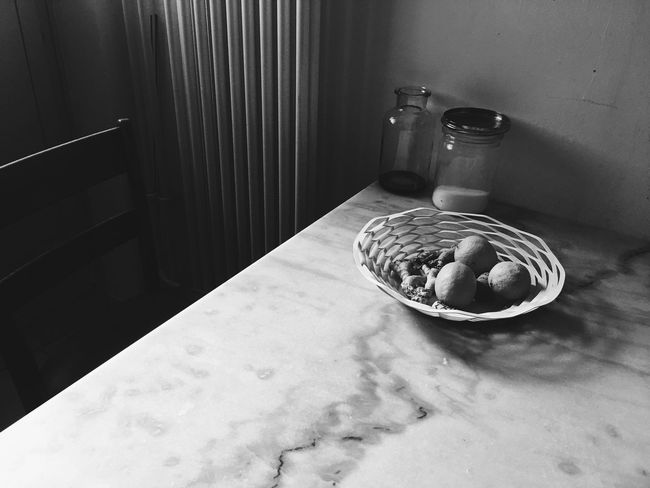 Fruit Bowl When Life Gives You Lemons Lemons Marbel Table Marbel Quiet Corner Calm Moment Thoughtful Fruit Bowl And Kitchen Table. Fruit Bowl Still Life Peacfull Place Peacefull Calmness Calm Indoors  High Angle View Still Life No People Table Home Interior Sunlight Shadow Food And Drink