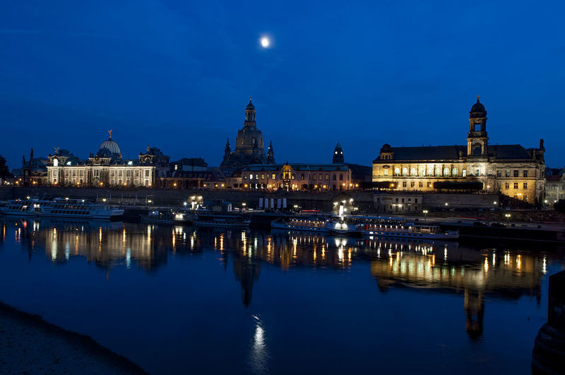 Dresden by night Architecture Building Exterior Built Structure City Famous Place Geometry Horizontal Symmetry International Landmark Outdoors Tourism Town Square