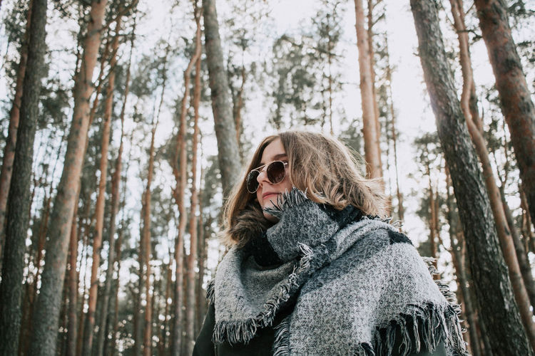 Waiting for Spring Adult Adults Only Cold Temperature Day Forest Headshot Nature One Person Outdoors People Portrait Snow Tree Tree Trunk Warm Clothing Winter