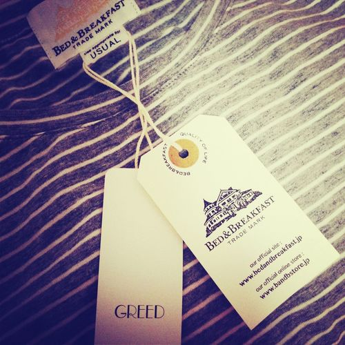 Tシャツ♡ GREED Bed&breakfast