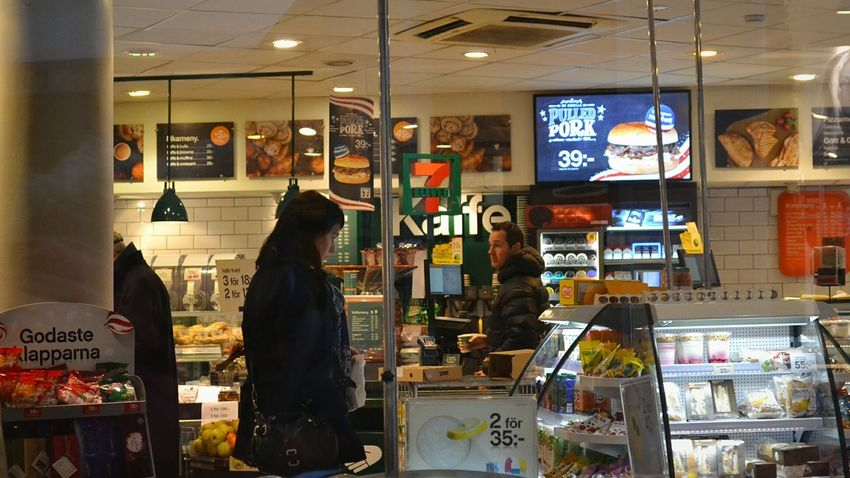 Seveneleven Seven Eleven Market Shop Shop Window Shopwindow Window Vitrine Products Product Food Detalls Human People Man Woman Stockholm Sweden First Eyeem Photo
