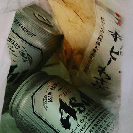 そして泡盛ロックで2杯貰えば十分だけど、なぜか晩酌とつまみだと貰って! Asahibeer アサヒビール セブンイレブン