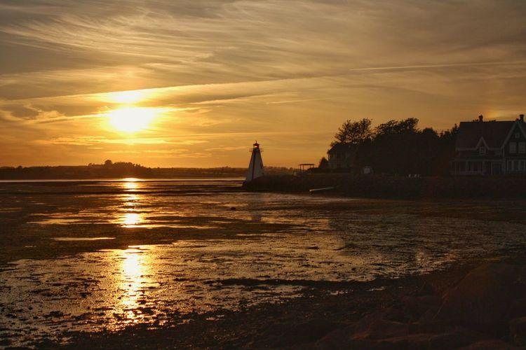 Charlottetown, Prince Edward Island. Charlottetown Prince Edward Island Canada Explore Canada  Lighthouse Sunset Golden Hour Golden Skies Landscapes Sea Coast, Low Tide
