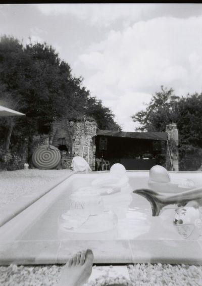 Summer Lomography Holga Blackandwhite Swimming Pool Sun Cool Memories Garden Holidays