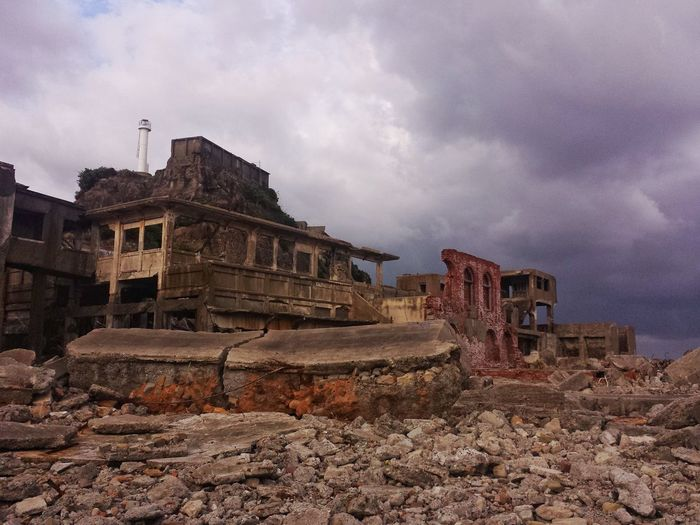 Ruins Hashima Island Sky And Clouds Travel Destinations Abandoned Nagasaki Tourist Mode Outdoors