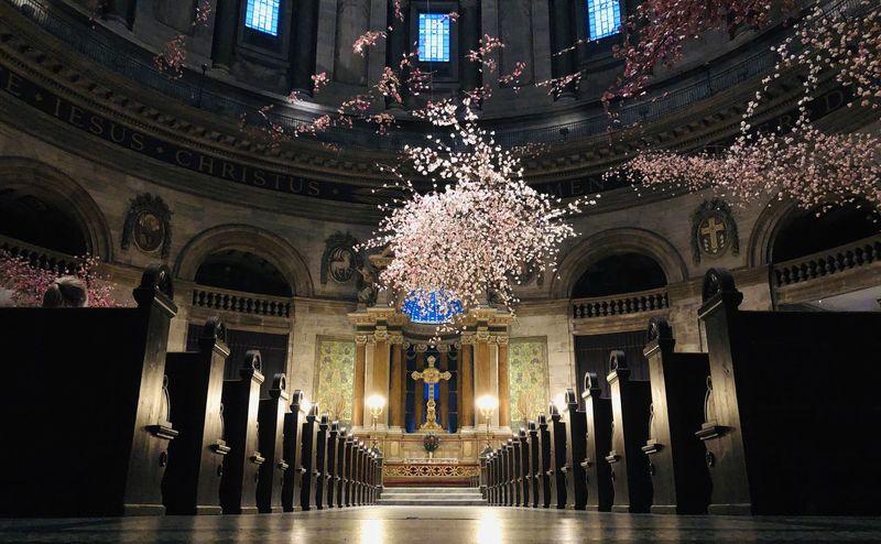 Art Exhibition Architecture Built Structure Illuminated Building Exterior Building Religion Architectural Column Decoration Place Of Worship