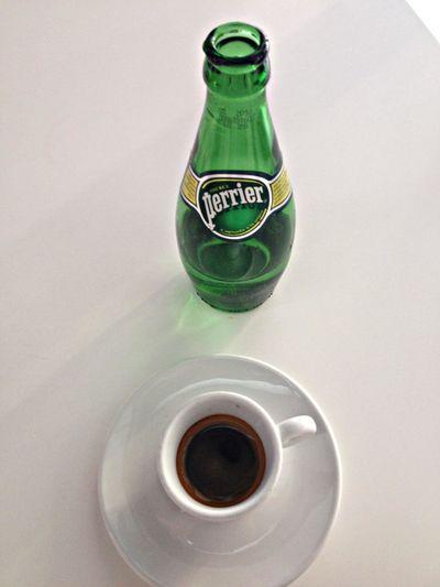 café Espresso con agua con gas