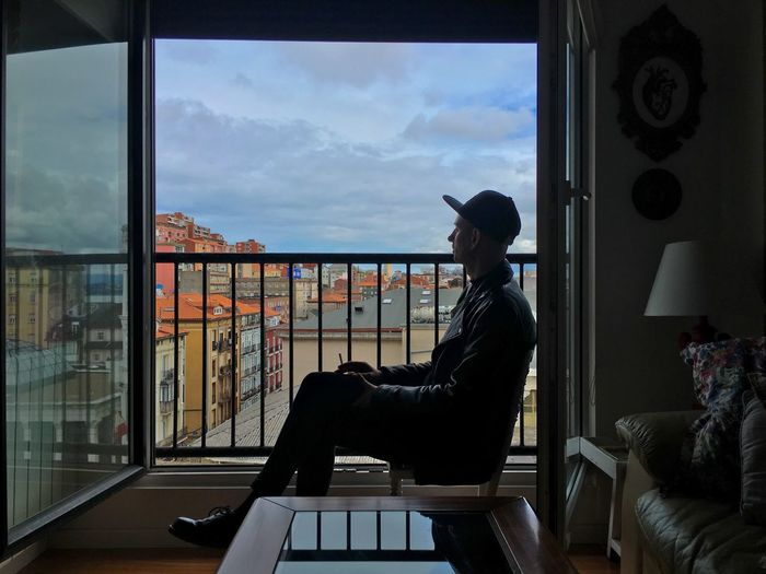 Window Real People Indoors  Sky Day Sitting One Person City EyeEmNewHere