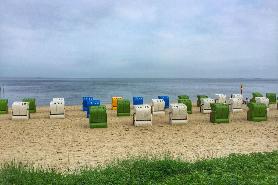 Inselfeeling 🌊🌬☀️ Insel Föhr Germany Beach Chairs Northsea Nordsee Landscape Landscape_Collection Landscapes With WhiteWall