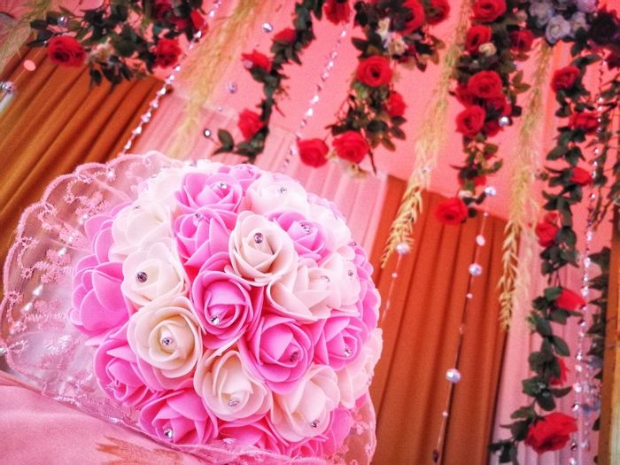Pink Color Celebration Flower High Angle View Wedding No People Table Wedding Ceremony Indoors  Close-up Day Flower Head