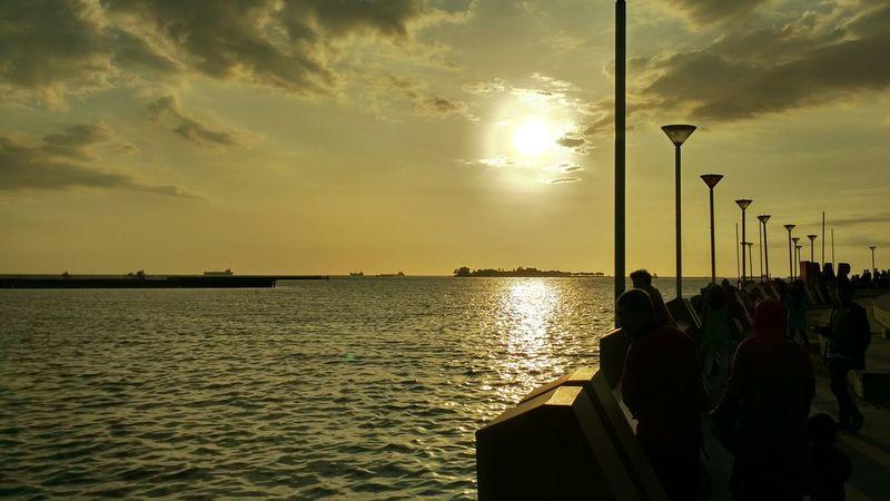 Sore Losari Beach Makassar INDONESIA