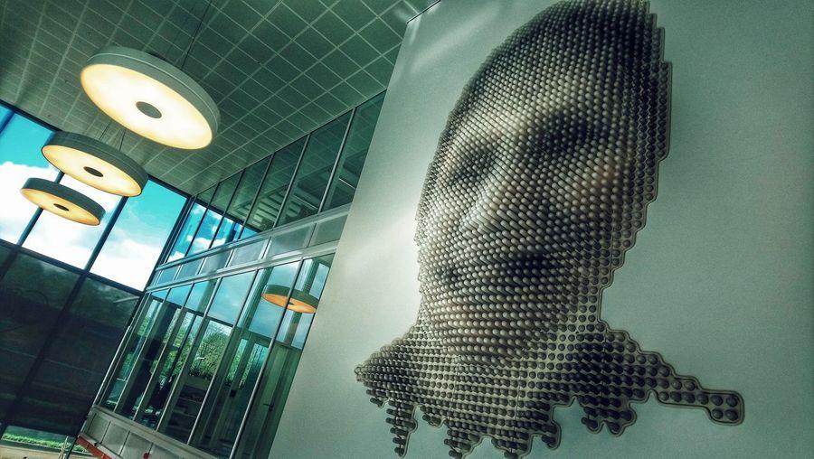 3D Face. A creepy one. Face Art 3D Close-up Human Representation