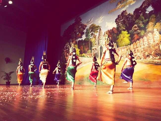 Dancing Real People Performance Traveling Culture Tourism Travel Destinations Multi Colored Music Cambodia, Freez  Girls Fun