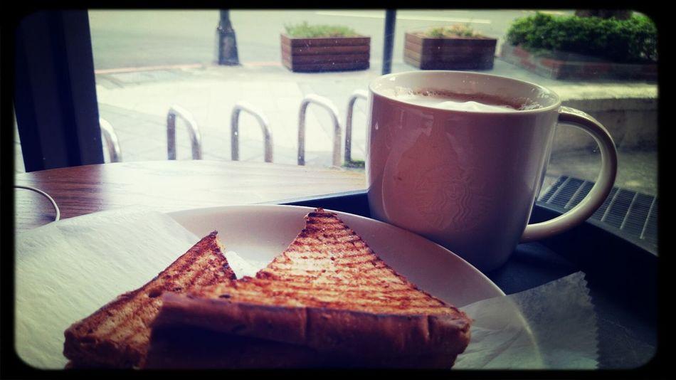 hi. breakfast~ Drinking A Latte