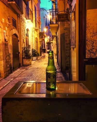 Bottle Night Building Exterior Built Structure Architecture Illuminated No People Indoors  Reverso Reversobistrot Fidelity  Beer Forst Mood