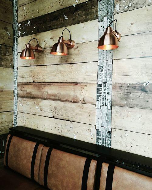 Restaurant Design Inspiration Lighting Interiordesign Decoration Interior Restaurantdesign Industrial Coffeeshop Wallpaper Brownleather Copper