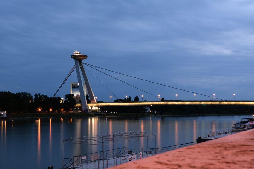 Bratislava at Night Slovakia Architecture EyeEm Best Shots Darkness And Light Bridge River Nightlights Light And Shadow