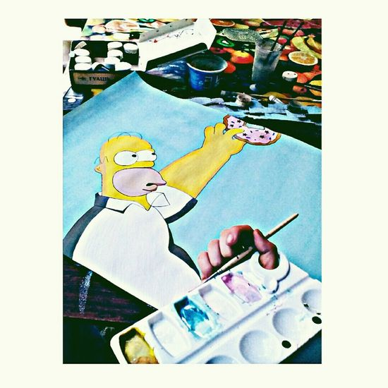 🎨💜 Hi! My Picture Russia Art Gomer Homer Simpson Simpsons The Simpsons That's Me Good Morning